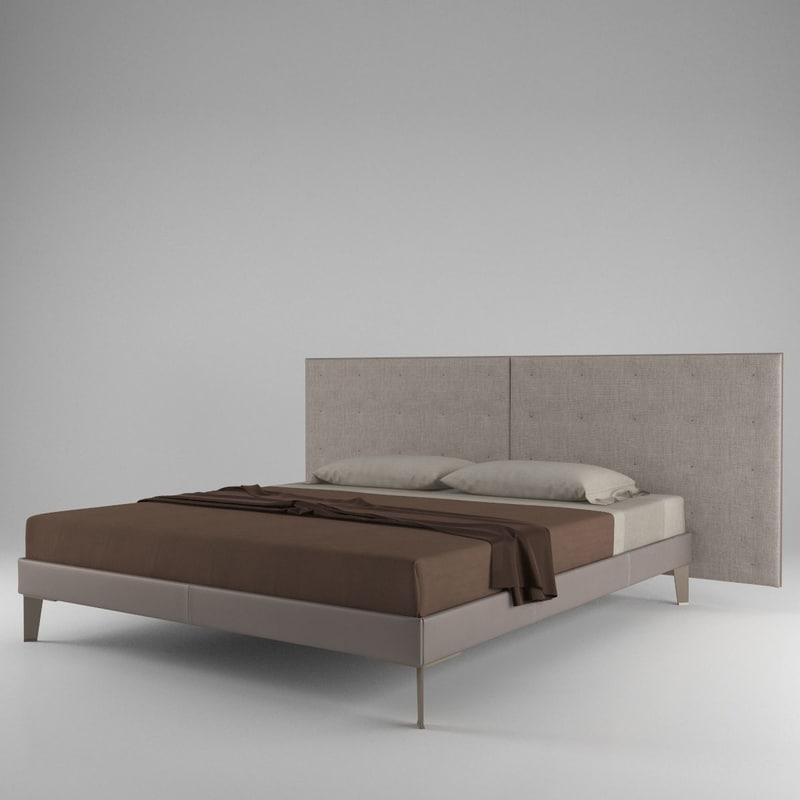 3d poltrona frau grantorino bed model