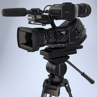 Sony XDCAM-EX PMW HDCAM camera with stand