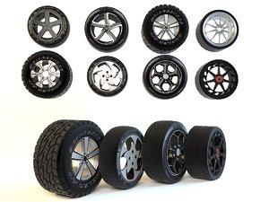 wheels set 3d model