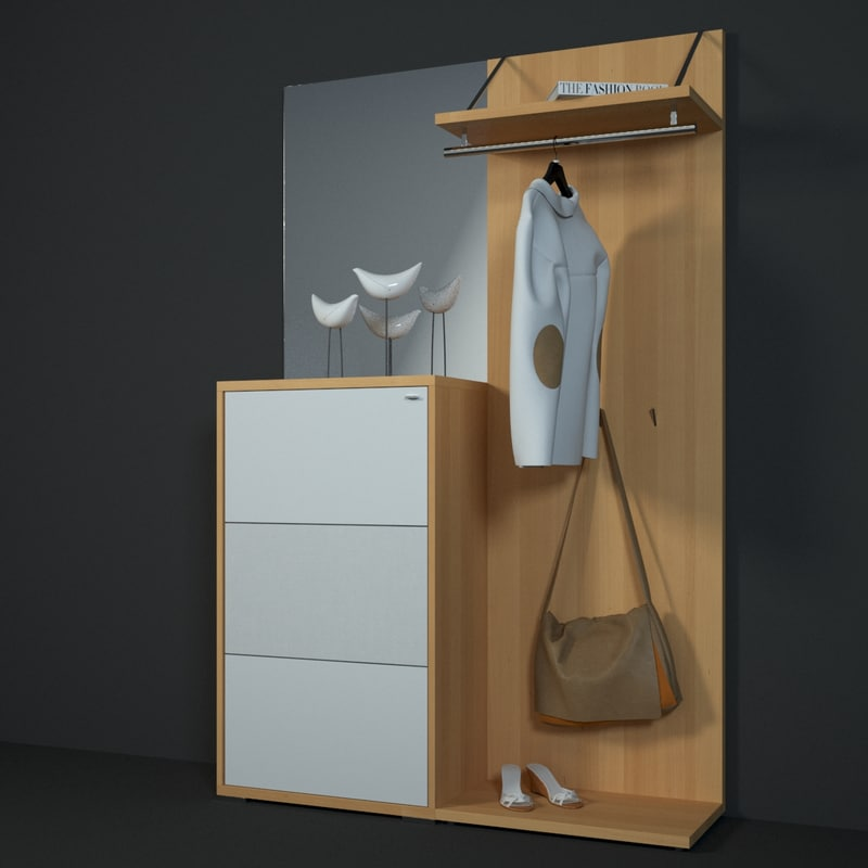 3d model mento hallway