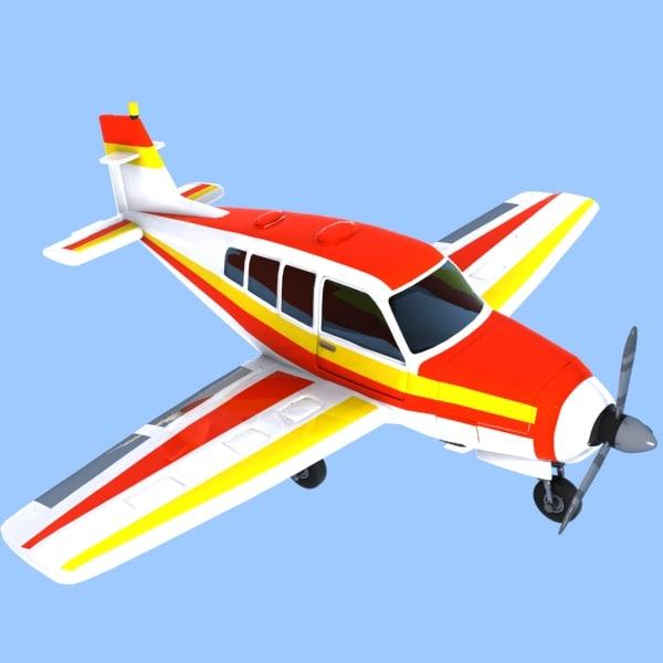 3d cartoon trainer aircraft