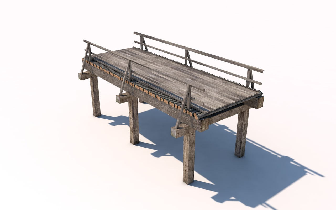 cinema4d wood bridge