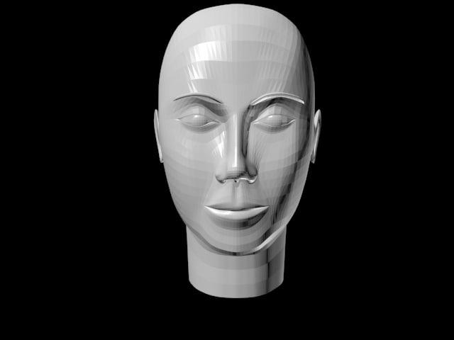 3d woman heads model
