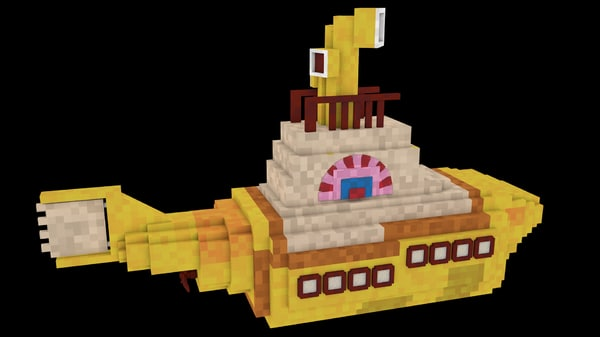 minecraft yellow submarine c4d