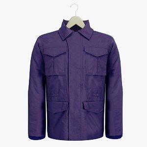 male blue coat hanger 3ds