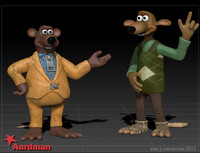 characters chicken run 3d 3ds