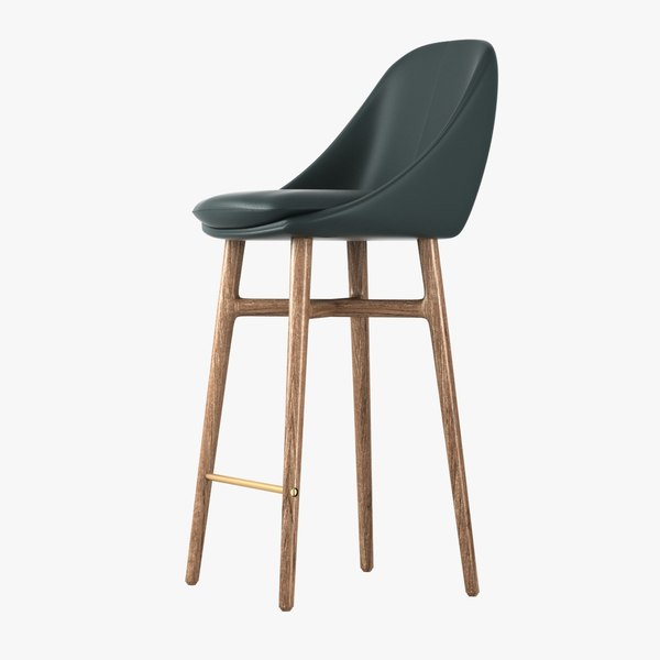 barstool stool solo neri 3d model