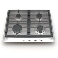 miele 4-burner km 3d model