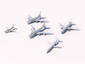 3d aircraft commercial pack