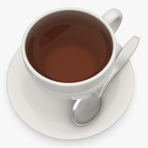 tea scanline subdivided 3d model