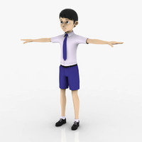 3d model school boy