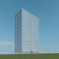3d new skyscraper 85 model