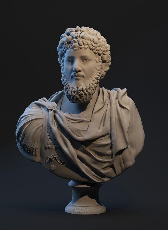 roman emperor lucius 3d max