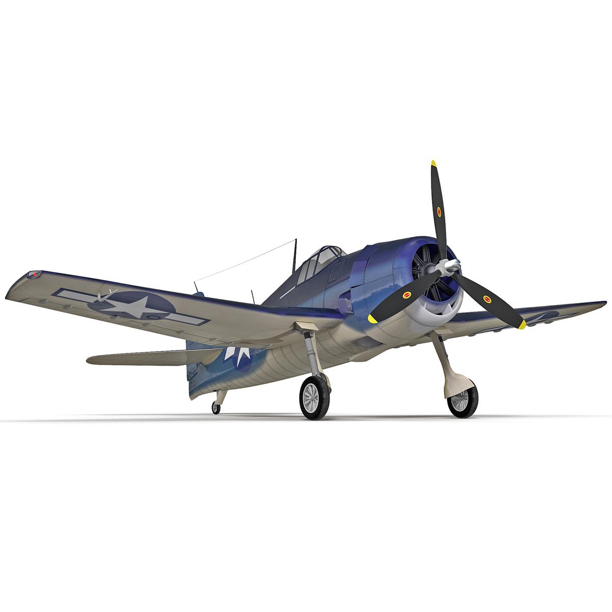 fighter aircraft grumman f6f 3d max