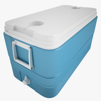 3d model ice chest igloo