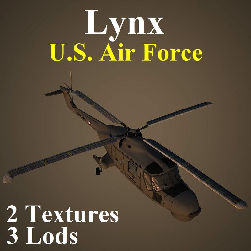 3d agustawestland lynx usa helicopter model