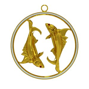 3d model zodiac pisces sign