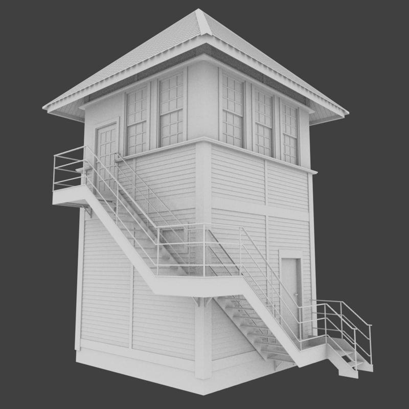 3d railroad tower model