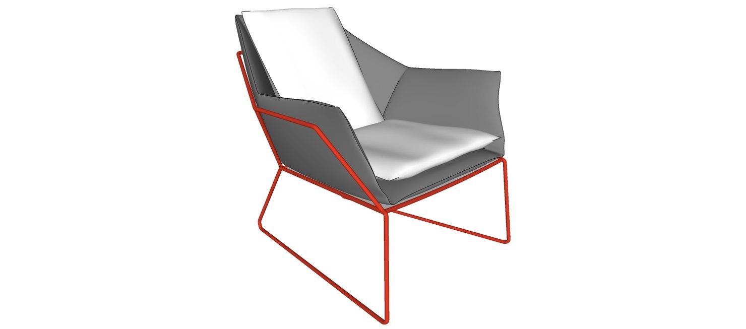 3d new york armchair saba