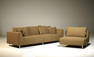 3d model sofa octane