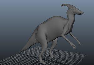 parasaurolophus animating 3d model