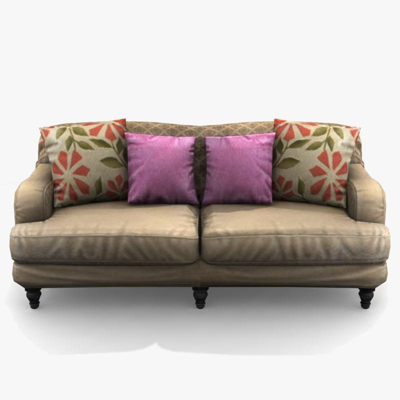 3d max sofa traditional