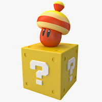 Super Mario Acorn Block Figure