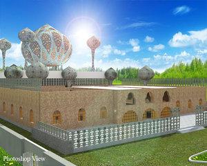 mosque realistic 3d model