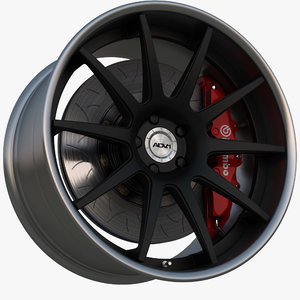 wheel 0 deep concave 3d model