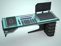 control desk 3d model