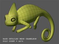 3d model base chameleon
