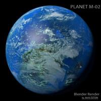 3d model planet m-02 m
