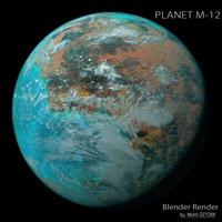 3d model planet m-12 m