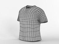 Base de la camiseta masculina de malla