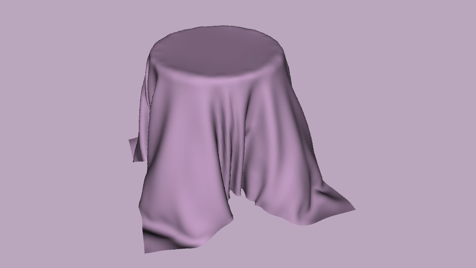 pink ncloth table 3d model