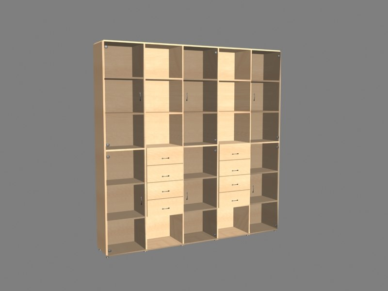 3d max bookcase materials