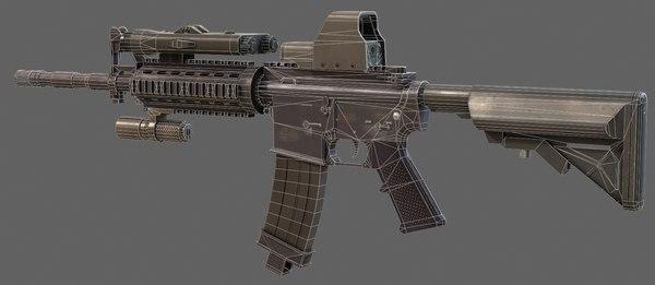 m4 rifle 3d model