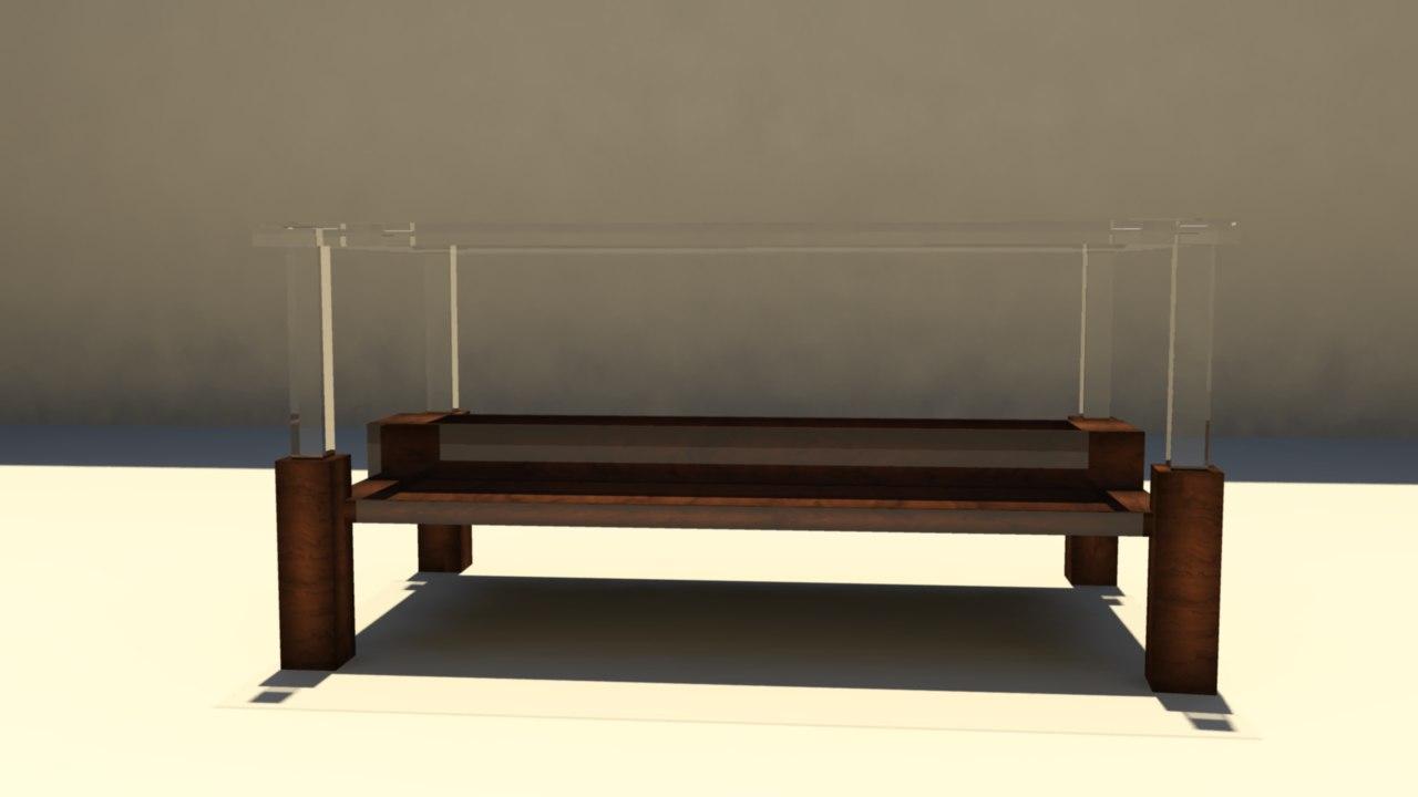 nice glass table 3d obj