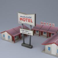 highway motel 3d max