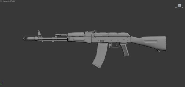 maya kalashnikov assault rifle