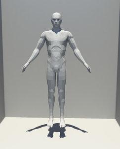 male character base mesh obj