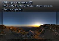 MOUNTAIN TOP  AT SUNSET 360 HDR PANORAMA #268