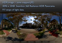 SUBURBAN STREET VIEW FROM SIDEWALK 360 HDR PANORAMA #318