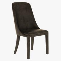 baxter decor chair 3d obj