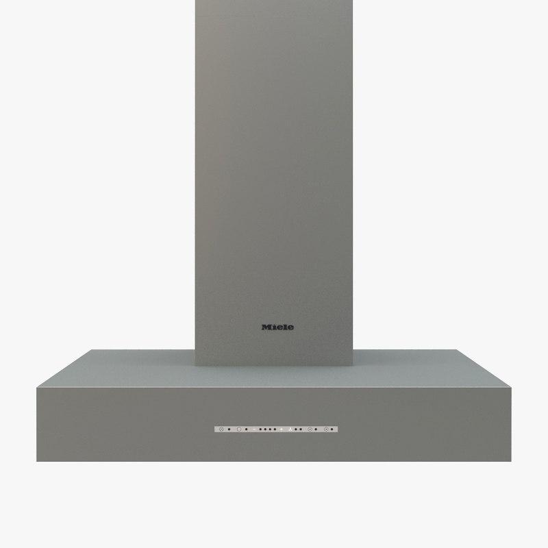 3d model miele ventilation hood
