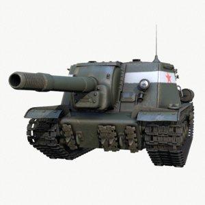 self-propelled tank 3d model