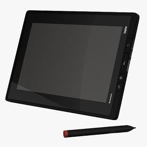 3d model tablet lenovo thinkpad set