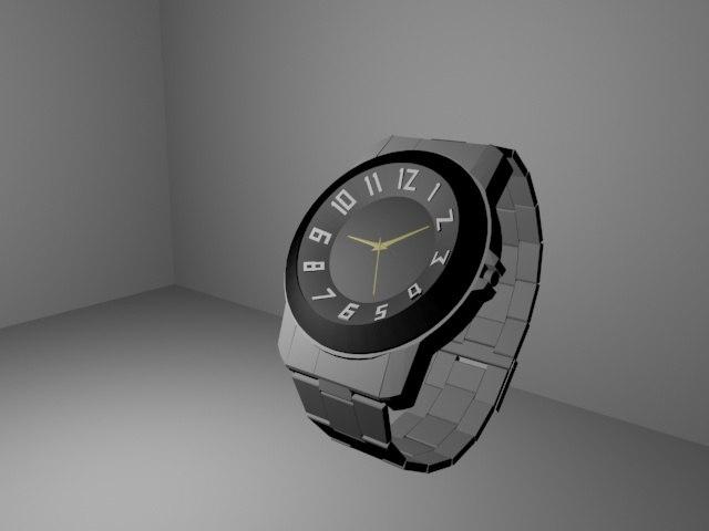 3d model wrist watch