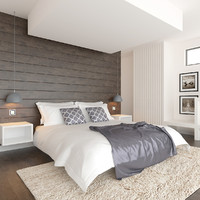 3d modern interior room