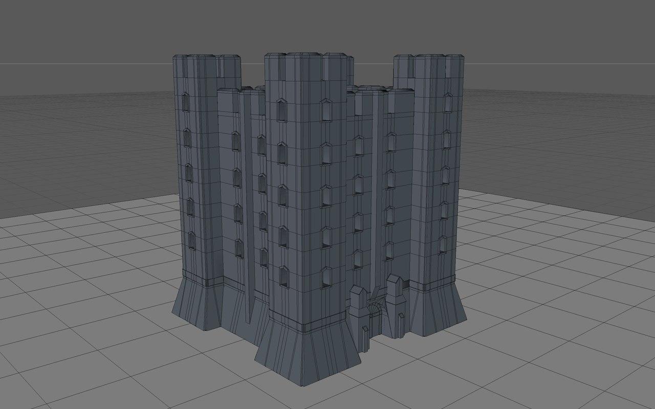 3d model of medieval castle